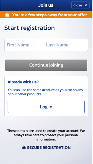 SkyBet Sign-up
